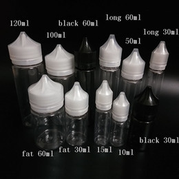 Wholesale beverage bottles wholesale - 15ml 30ml 50ml 60ml 100ml 120ml Chubby Bottles PET Unicorn Dropper Bottle Tool Kitchen Accessories Home Decor Pipe Vape Smok Tool