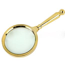 Antiga, lupa on-line-10X Lupa Lente Lente Óptica Óculos de Mão De Vidro De Bronze Decoração Portátil Velho Homem Leitura Lupa Jóias Jade Identificação