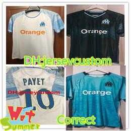 Wholesale marseille football jersey - Olympique de Marseille Soccer jersey new 2018 OM Marseille Maillot De Foot PAYET L.GUSTAVO THAUVIN football jerseys 18 19 Marseille shirts