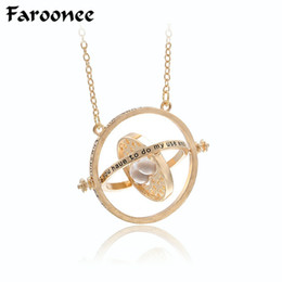 Wholesale Harry Potter Necklaces - Hot Sell Harry Time Turner Potter Necklace Hourglass Vintage Pendant Hermione Granger For Women Lady Girl Wholesale 7C0150
