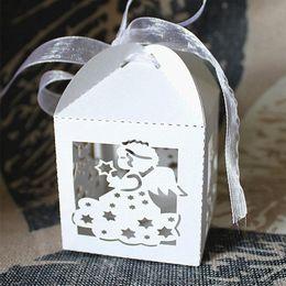 stella caramelle Sconti 50pcs Laser Cut Hollow Angel Star Baby Shower Bambini scatola di compleanno confezione regalo carta di carta Candy Party Fovors