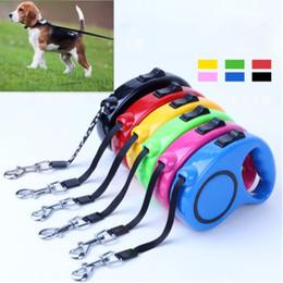 Cuerda de tracción automática para mascotas online-Cuerda de tracción retráctil automático Magic Pet Dog / Cat Puppy Tractor automático Cuerda de perro Walking Lead Leash EEA299 120pcs