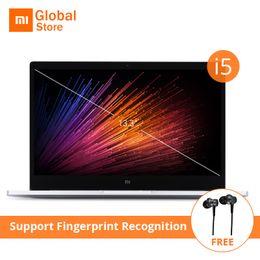 Wholesale Laptop I5 8gb - Earphone Gift 13.3 inch i5 Xiaomi Mi Notebook Air Fingerprint Recognition Intel Core i5-7200U CPU 8GB 256GB SSD NVIDIA Laptop PC