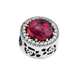 2018 neue authentische 925 Sterling Silber Perle Charm Belle Radiant Rose mit Mix Kristall Perlen passen Pandora Armband Armreif Diy Schmuck von Fabrikanten