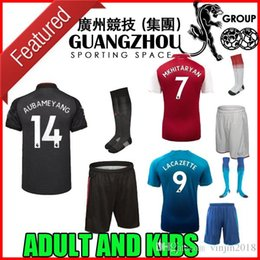 Wholesale Football 14 - 17 18 AUBAMEYANG 14 adult kit Soccer Jerseys HOME MKHITARYAN 2017 2018 XHAKA RAMSEY OZIL LACAZETTE AWAY THIRD kids child FOOTBALL SHIRTS