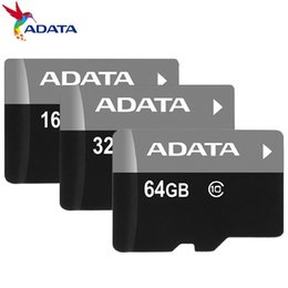 Wholesale 256gb Sd - ADATA 256GB 128GB 64GB 32GB Class 10 TF Flash Memory C10 Card + SD Adapter retail package 2018 Top 10 Best Seller