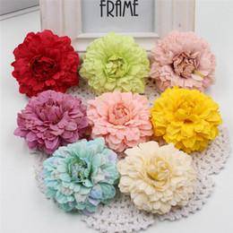 Wholesale Marigolds Flowers - 2017 5pcs Multicolor Silk 6cm Marigold Artificial Flowers For Wedding Party Home Decoration Mariage Calendula Simulation Flowers