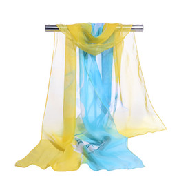 Wholesale Flower Hijabs - Wholesale Summer Scarf Woman Floral Style scarves Orchid Flower long Chiffon Silk Scarfs Muslim Hijabs Scarf