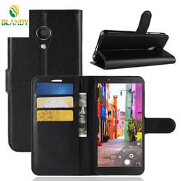 Para alcatel 1x lichia lichia wallet capa de couro titular do cartão caso para alcatel 1c 3c 3 v de Fornecedores de estojo de couro para alcatel