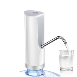 Wholesale bottle water pumps - Electric Automatic Bottle Water Pump For Bottle USB Cable Rechargeable Battery Water Dispenser Drinking Pump 4W 5V Outdoor