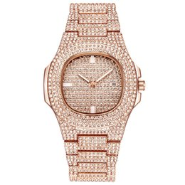 Orologi d'oro online-New Luxury Women Watch Diamonds Quarzo Lady Acciaio inossidabile Orologi Strass Rose Gold Orologi da polso Orologio Regali Relogio Feminino