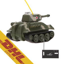 Wholesale Military Metal Box - 36pcs lot Mini RC Tank Car 4CH Radio Remote Control Vehicle LED Light 4 Colors Happycow 777-215 Toys for Kids Christmas Gift