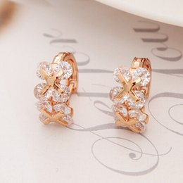 Wholesale Pave Hoops - whole saleGold Color Pave Colors Zirconia CZ Small Circles Huggies Hoop Earrings For Children Girls Baby Kids Jewelry brinco pequeno Aros