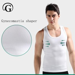 Wholesale man boobs - PRAYGER Men Boobs Compression Undershirt Slimming control Chest Body Shaper Tops Belly Tummy Trimmer Shaper Sleeveless tank tops