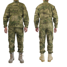 uniforme del ejército camo Rebajas Uniforme militar al aire libre Camofluage Tactical Atacs A-Tacs FG Camo Durable Shirt Pants Army Combat Coat and Trousers
