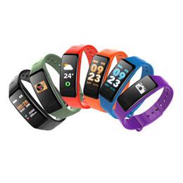 Smartphone herzfrequenz online-2019 C1S Fitness Tracker Smart Armband Herzfrequenz-Blutdruckmessgerät IP67 wasserdicht Smart Wristand für iOS Android Smartphone