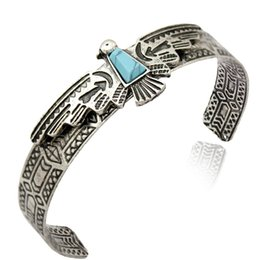 Wholesale Wholesale Native American - whole saleVintage Gold Silver Antique Carve Eagle Navajo bracelets for Women Bangles Pulseiras Cuff Native American Indian Men Jewelry
