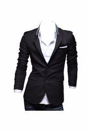 2019 um botão elegante homens Casual dos homens Slim Fit elegante One Button Suit Primavera Outono Casaco Blazer Casacos Atacado para o Partido Diário desconto um botão elegante homens