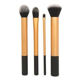 Wholesale Kit Brushes Set Aluminum - 3 pcs   4pcs   5 piece Makeup Brush Set Aluminum tube handle makeup brushes Tools Foundation blush fashionable waist bag