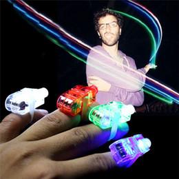 Wholesale fingers blisters - Wholesale - 100pcs 4x Color LED laser finger beams party Light-up finger ring laser lights with blister package
