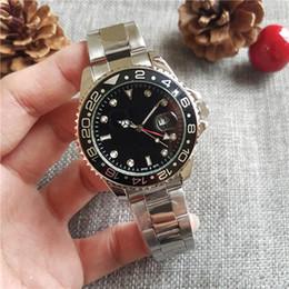 44MM New Gent 's GMT II hommes masculins marque de luxe Analog sport montre-bracelet Date de la montre pour hommes ? partir de fabricateur