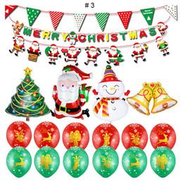 Decoração decoração de natal on-line-Decoração de Natal bonita 2019 Papai Noel Balão Set Festivo Xmas Merry Christmas Layout Festa Decorativa Balão De Alumínio para Casa