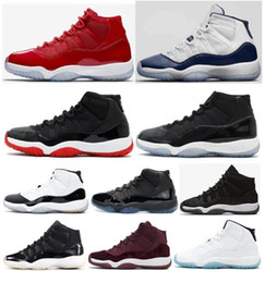 red high shoes Promo Codes - High Quality 11 11s Space Jam Bred Concord Basketball Shoes Men Women Prom Night Gym Red Midnight Navy Gamma Blue Sneakers With Box