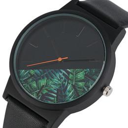 Wholesale Unique Clocks - Unique Unisex Watches Tropical Jungle Design Quartz Wristwatch for Men's Women's Creative Casual Sport Clock Hour Gift 2018