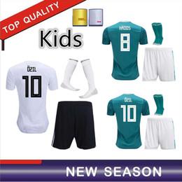 Wholesale germany clothes - 2018 WORLD CUP GeRMany kids kit soccer jersey DRAXLER MULLER OZIL KROOS HUMMELS WERNER SANE Football clothing