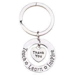 1 Pc Professeur Keychain Merci Enseigner Apprendre Inspirer Porte-clés Porte-clés Bijoux Pour Professeurs Jour cadeau ? partir de fabricateur