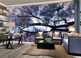 2019 весенние росписи 3D фото настенная роспись на заказ новый китайский Весна вишневое дерево обои 3D стереоскопический ручная роспись стены фон дешево весенние росписи