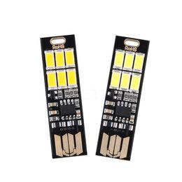 Ampoule Carte Lampe Trousseau Poche Blanche Mini Usb Commutateur Tactile 4Led aa