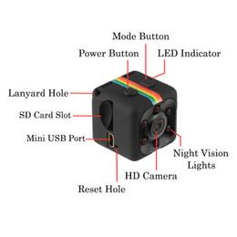 2019 camaras aereas SQ11 Mini cámara HD videocámara HD Night Vision Mini cámara 1080P Aerial Sports DV video grabadora con paquete camaras aereas baratos
