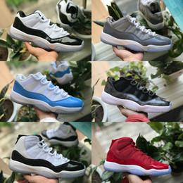 Haute Qualité 2018 Nouveau Cool Grey 11 Hommes Chaussures de Basketball 11s Platinum Tint Cap et Robe Gym Rouge Midnight Navy femmes Bred Space Jam Sneakers ? partir de fabricateur