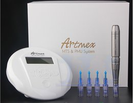 2019 máquinas de tatuaje ligero Pistola eléctrica del tatuaje de la máquina del tatuaje del maquillaje permanente de Artmex V6 MTS + PMU de la venta caliente 2018