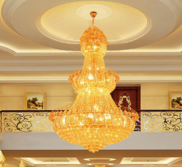 Wholesale Construction Leads - Crystal chandeliers led chandelier lighting luxury fancy villas hotel penthouse project construction led crystal chandeliers with bulbs LLFA