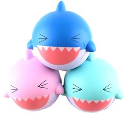 Wholesale Shark Rubber - Toy Squishy Round Shape Simulation Shark Pu Slow Rising Squeeze Squishies Kids Decompression Relieve Stress Bread Fashion Gift 24mj Z