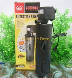 peixe aquário filtro de água Desconto SUNSUN 8 W 16 W 22 W 35 W Aquário Filtro Submersível Bomba de Tanque de Peixes de Oxigênio Imerso Bomba de Água Filtro Interno