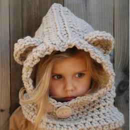 детская шапка вязания дизайн Скидка Унисекс ребенка шапочки Cap набор детские дети животных дизайн сгущаться вязать добавить бархат шляпу и шарф зима теплый костюм набор H3
