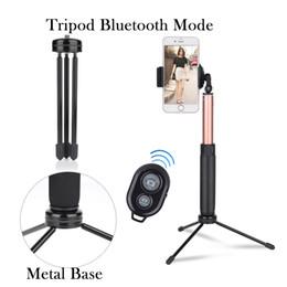 Tripod Selfie Stick Uzatılabilir Monopod, Mini Tripod Standı, Arka Ayna, Bluetooth Kontrol Kablolu dahili IOS Android için Uzaktan Deklanşör nereden monopod arka ayna tedarikçiler