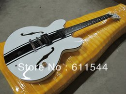 Wholesale Hollow White Jazz - Free Shipping ES333 Semi Hollow Classic White Jazz Guitar High Quality OEM Musical instruments