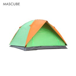 Wholesale Large Camping Tents - Outdoor Double Two-Door Camping Tent Classic Style Rainproof Sunscreen Camping Tents Large Space Applicable To A Wide Range