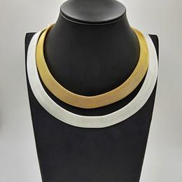 silber mesh schmuck halskette Rabatt USENSET Brand new Edelstahl Mesh Kette Halskette Gold Silber Halskette Schmuck Mode Eigenschaften Schmuck Geschenke Direktverkauf