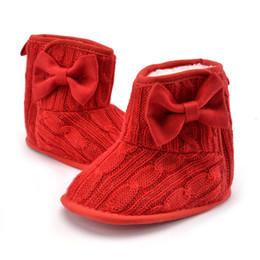 Zapatos de niña de invierno primeros caminantes zapatos de prewalker recién nacidos Zapatos de bebé boyas de bebé botines de ganchillo desde fabricantes