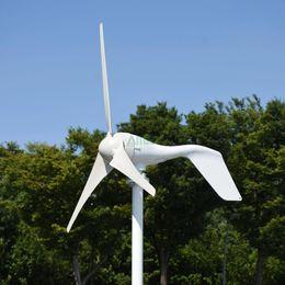 Lâminas de vento on-line-Atualizado 400w pequena turbina eólica três ou cinco lâminas opcionais com controlador de impulso, apto para casa ou camping