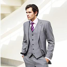 Rabatt Mannlicher Grauer Anzug 2019 Graue Farbe Anzug Mannlich Im