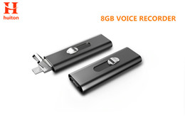 Wholesale file slots - Newest 8GB micro voice recorder metal material with two USB slots long time record check all files by Android smart phone UR-26