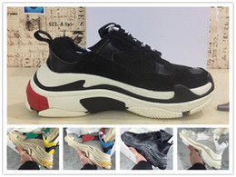 Wholesale s original - Hot Sale 2018 Paris triple S Luxury shoes Original Unisex Low Top Sneakers Casual Outdoor Athletic Sports Trainers Basketball size 36-45