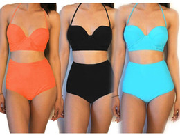 Vendita Costumi Da Bagno Vintage : Sconto vintage bikini ad alta vita 2018 vintage bikini ad alta