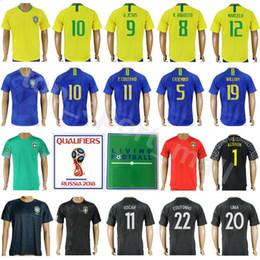 Wholesale national green - Soccer Jersey 2018 World Cup Men 20 FIRMINO 15 PAULINHO 7 COSTA 19 WILLIAN 8 AUGUSTO Make Custom Football Shirt Kits National Team